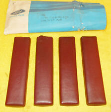 1966 1967 Lincoln Continental Sedan Convertible NOS RED LH+RH DOOR ARM REST PADS