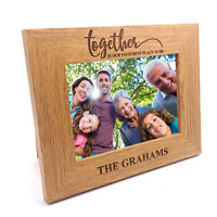 Personalised Family Photo Frame Gift Together Is Our Favourite Place To Be FW352