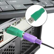 USB Male to PS2 PS/2 MD6 Female Adapter Mouse Keyboard Green Converter 1Pcs I0E3