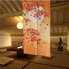 Japanese NOREN Room Door Curtain Doorway Drapes 85cm × 150cm Maple Leaf Printed