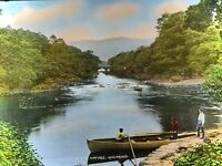 Magic Lantern Slide Photo Ireland Hand Color Meeting Of The Waters Killarney