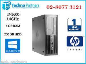 HP Elite 8200 Desktop Computer 2nd GEN i7 2600 3.3G 4G 250G Win 10 Pro Warranty