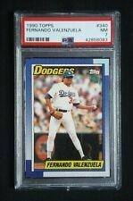 1990 Topps Baseball Fernando Valenzuela Card #340 PSA Graded 7 NM