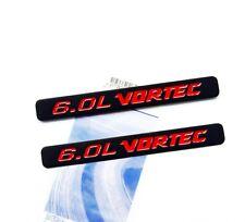 2x OEM 6.0L VORTEC emblem Badge 3D for Silverado Chevy 1500 2500 HD F2U Red uf