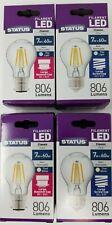7w = 60w LED GLS Clear Filament Light Bulbs B22 BC E27 ES Cool / Daylight White