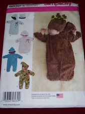 SIMPLICITY #8030 - CHILDS WINTER BUNTING - SNOWSUIT & HAT PATTERN  XXS-SM  FF
