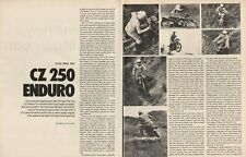 1973 CZ 250 Enduro - 7-Page Motorcycle Road Test Article