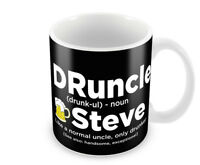 Personalised DRUNCLE Uncle Mens Mug Christmas Gift for Him Drunk Uncle 6 Colours