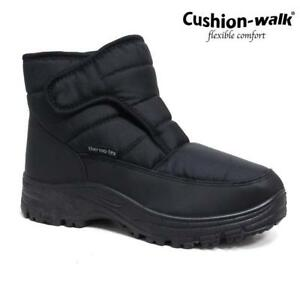 MENS SNOW BOOTS WINTER THERMO TEX WARM THERMAL SKI FUR NON SLIP SHOWERPROOF BOOT