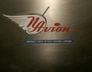 """Navion aircraft airplane Vintage style decal, reproduced from a original 5"""""""