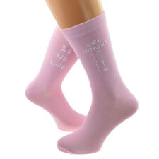Life Without Prosecco is No Life Fun Pale Pink Socks Ladies UK 3.5-7.5 - X6N817