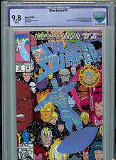 Silver Surfer #75 Cbcs 9.8 Nm/Mt 1992 Foil Cover Giant Size Marvel Comics