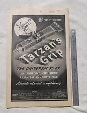 Tazan's Grip Adhesive Glue Large Full Page Advertisement from a 1947 Newspaper