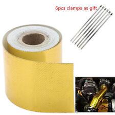 Car Gold High Temperature Heat Shield Protection Tape Fiberglass Self Adhesive