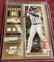 Ronald Acuna Jr 2018 Contenders Optic #4 Season Ticket RC, Atlanta Braves
