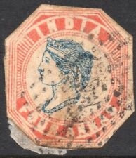India. Queen Victoria. 4 Anna. Used.  Issued 1855.  SG No. 24