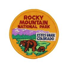 Souvenir Bear Patch Rocky Mountain National Park Estes Colorado Iron-On Applique