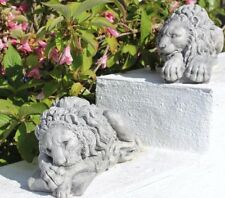 Pair of Stone Lion Statues Chatsworth Lion Garden Ornaments Cornwall Stoneware ®