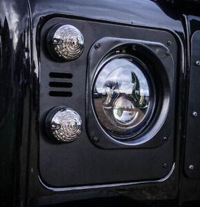 Land Rover Defender Stealth Metal Headlight Surrounds - Uproar 4x4