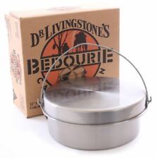 NEW Dr Livingstone's 12 Inch Bedourie Camp Oven Steel Cooking Picnic