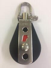 Rope Pulley Block 29mm x 70mm Ball Bearing Block - Swivel Top Single Sheave