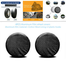 "4xBlack Wheel Tire Covers Waterproof For RV Trailer Camper Car SUV 26""to 27''Dia"