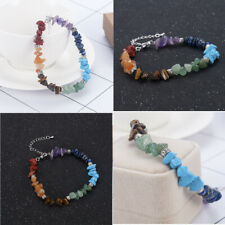 7 Chakra Healing Balance Crystal Gravel Yoga Reiki Natural Stone Bracelet Gift