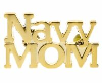 Navy Mom Script Gold Overlay Hat or Lapel Pin H14612 F3D18C