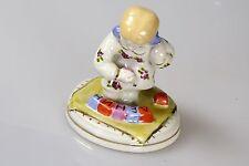 Russische Porzellanfigur Mädchen wird Würfel gespielt Porzellan Russland LENIN