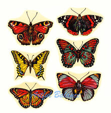 Ceramic Decals Butterflies Butterfly Open Wings Six Designs 2.5 inch