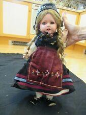 "Vintage Early 1900s 16"" Porcelain Adolf Heller Doll - Thuringia Dress"