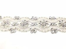 11'' Pearl Bridal Belt Rhinestone Wedding Sash belt ,for bridal dresses, trim