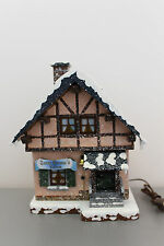 449-400h0004 Hubrig Winterkinder Winterhaus Tante-Emma-Laden