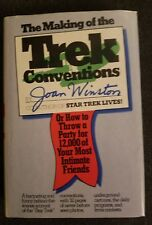 The Making of the Trek Conventions Joan Winston  Autographed 1977 1st printing