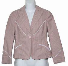 Womens Marc Jacobs Blazer Jacket Pink White Pinstripe Size Medium