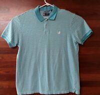 Men's XXL Chaps Blue Striped Polo Shirt