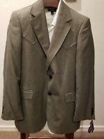Circle S Western Sport Coat Mens Kerrville Western Yokes CC2317 Size 42L