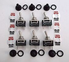 6 BBT Marine Grade 2 Position On/Off 12 volt, 20 amp Toggle Switches w/ Boots