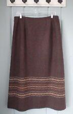 Pendleton Womens 14 Large Wool Brown Long Modest Maxi Blanket A Line Skirt USA