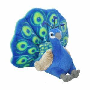 "Wild Republic Mini Cuddlekins Peacock 8"" Soft Plush Toy"