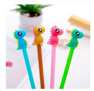 Cute Dinosaur Black Gel Novelty pen kids School Stationary party bag filers UK