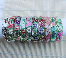 wholesale10 PCS Stunning CHINESE Handmade Cloisonne Enamel Cuff Bracelet