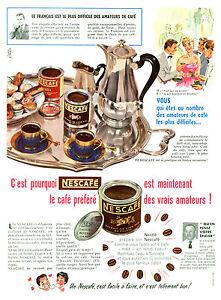 Publicité ancienne Nescafé le café préféré 1956 issue de magazine