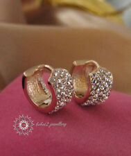 Simulated Diamond/Clear Crystal  Hoop Earring/RGE289/348