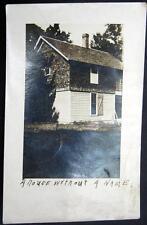 """MOUNT POLASKI Illinois ~ 1911  """" A HOUSE WITH NO NAME """"~ Real Photo PC  RPPC"""