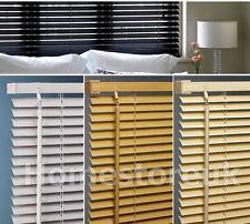 READY MADE VINYL PVC VENETIAN BLIND PLAIN / WOOD EFFECT SLAT STRIP FOR WINDOW