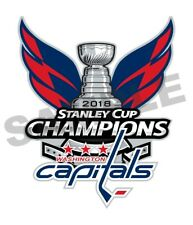 Washington Capitals 2018 Stanley Cup Champions Decal / Sticker Die cut