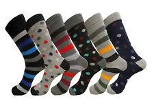 6 PK FASHION MEN WOMEN DRESS SOCKS FIRST QUALITY SIZE 9-11 COTTON FORMAL SOCKS