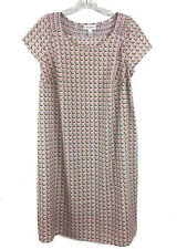 Liz Lange Maternity Womens Short Sleeve Pregnancy Shift Boho Dress Size XS-TP