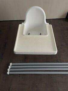 Seggiolone IKEA pappa ANTILOP Bianco Bambini salvaspazio infanzia tavolo